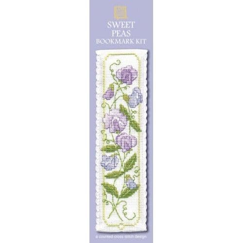 """""""Sweet Peas"""" Counted Cross Stitch Bookmark Kit"""